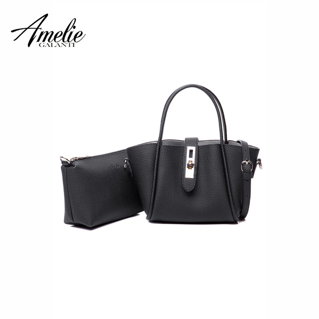 AMELIE GALANTI Women Handbag Composite Bag Shoulder Solid Convenient and practical Two separate pockets Small size