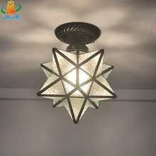 Five-pointed star pendant light entranceway personality balcony piaochuang modern ceiling light