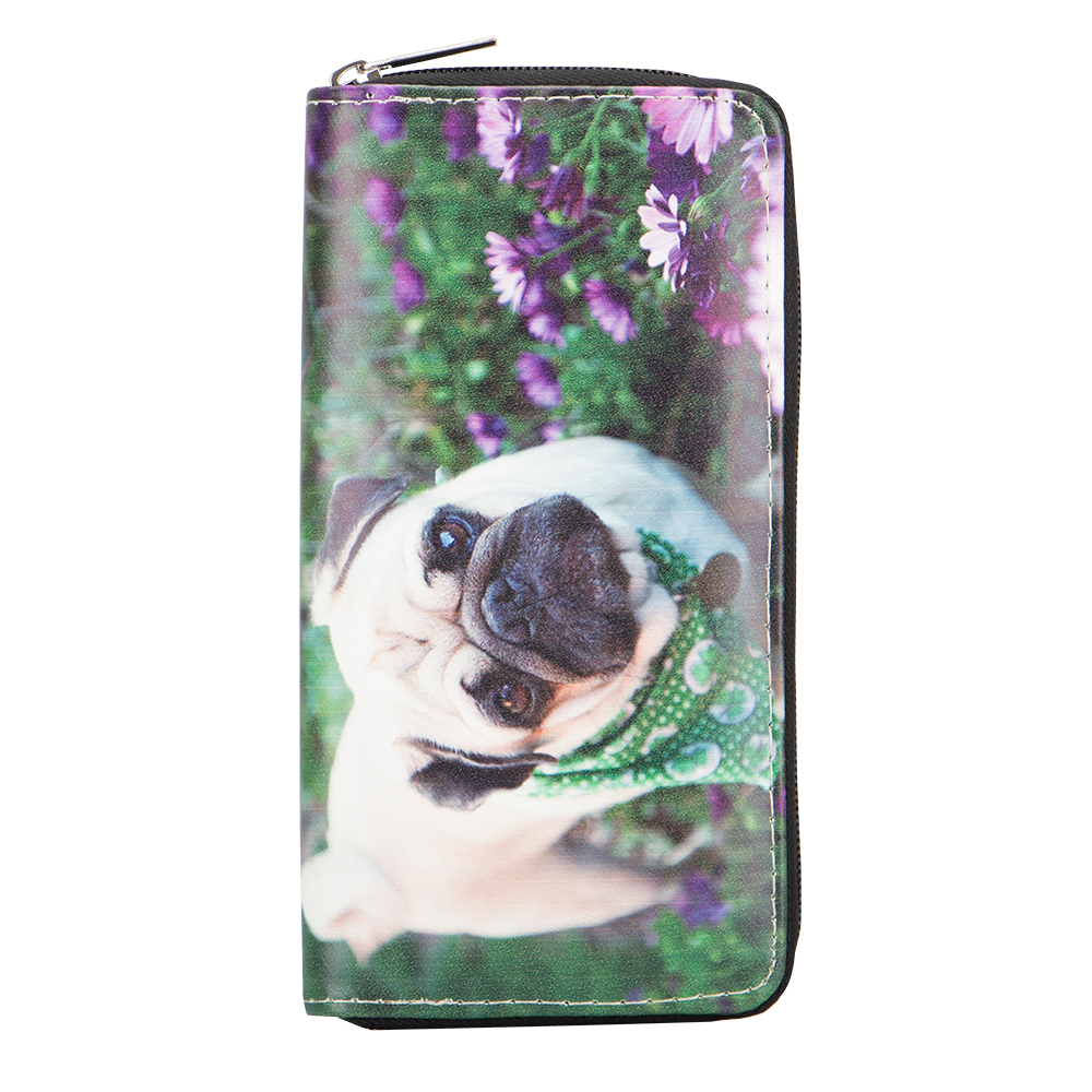 Sansarya New Fashion 2018 Animals Lovely Dog Flowers Girls Teenager Designer Women Wallet Card Holder Zipper Wallets Money Bag