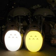 Cute Totoro Shaped Rechargeable Plastic LED Nightlight