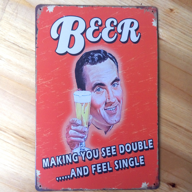 LKG-0010  Beer is our good friends  20x30cm metal painting Tin signs home decor House Cafe bar Vintage Metal plaque free ship