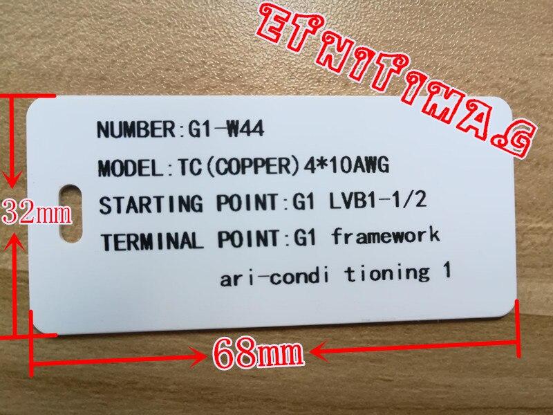 cable marker label pvc signage custom print 32mm*68mm*400