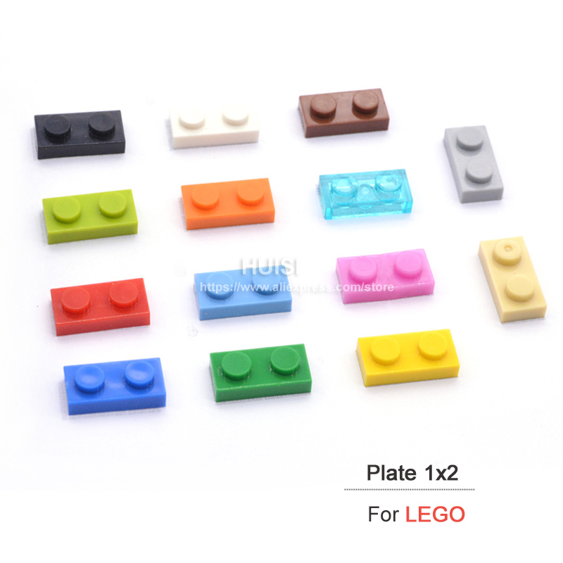 Legoes Compatible Blocks Plastic Building Toys Bricks Parts Early Educational Toys 1x2 Short Bricks Set Kids DIY Toys 100pcs/lot