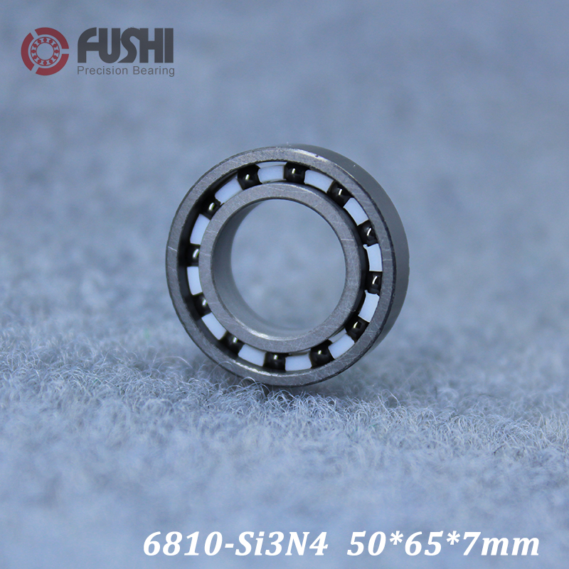 6810 Full Ceramic Bearing ( 1 PC ) 50*65*7 mm Si3N4 Material 6810CE All Silicon Nitride Ceramic 6810 Ball Bearings6810 Full Ceramic Bearing ( 1 PC ) 50*65*7 mm Si3N4 Material 6810CE All Silicon Nitride Ceramic 6810 Ball Bearings