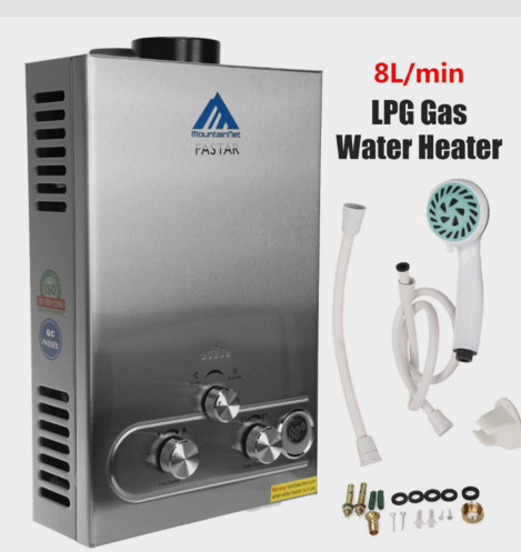 Special !(Ship From ES)2019  Flue Type 8l Lpg Propane Gas Hot Water Heater Instant Boiler Stainless Lcd Ce