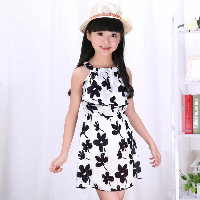 Summer Flower Girls Dresses 3 4 <font><b>5</b></font> 6 7 8 9 10 11 12 Year Children Clothing Kids Dresses for Girls Party School Wedding Clothes image