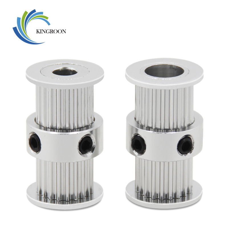GT2 20tooth Timing Pulley Double Round-Headed Synchronous Wheel Gear 20 teeth For Belt 3D Printer Parts 2GT Screw Aluminum PartGT2 20tooth Timing Pulley Double Round-Headed Synchronous Wheel Gear 20 teeth For Belt 3D Printer Parts 2GT Screw Aluminum Part
