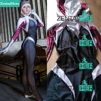 จัดส่งฟรี DHL 3 ดิจิตอลแมงมุมเกวนสเตซี่เครื่องแต่งกาย Zentai Spiderman หญิงชุดแมงมุม 2017 ฮาโลวีนคอสเพลย์ใหม่ 16062202