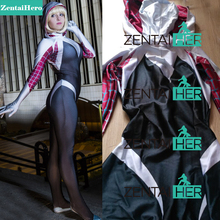 Free Shipping DHL 3 Digital Spider Gwen Stacy Costume Zentai Spiderman Female Spider Suit 2017 Halloween NEW Cosplay 16062202
