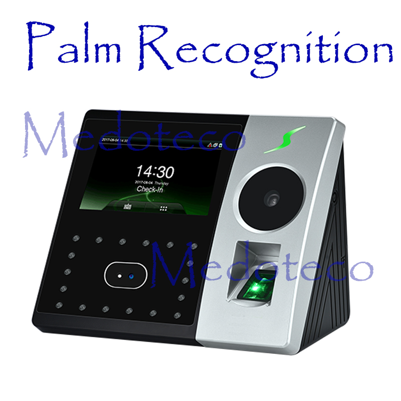 New Palm & Face Time Attendance Employee Hybird Biometric Electronic Attendance BioID Fingerprint Time Recorder Free Software