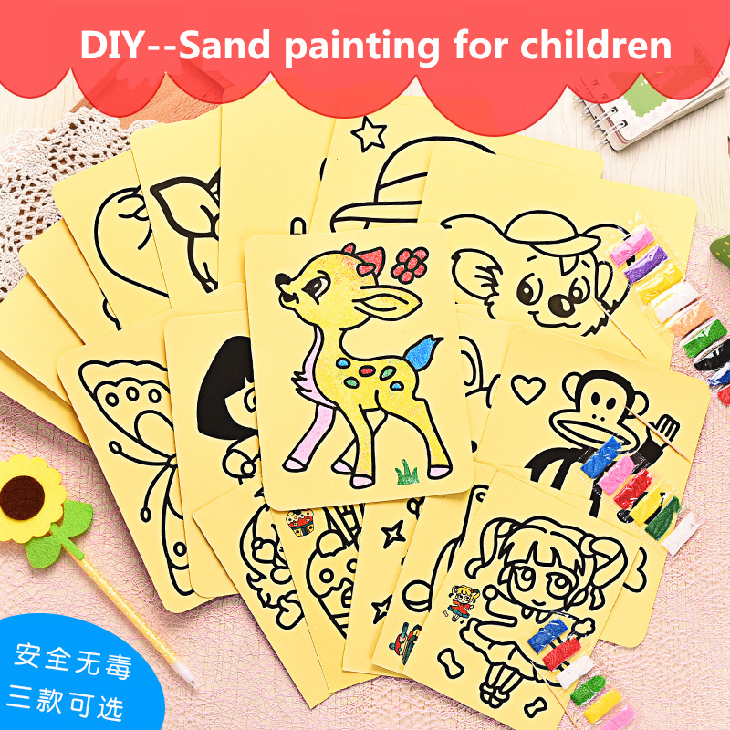 Dubbi Sand Painting For Children Diy Drawing 3 Size Toys Paper Art Creative  For Kids Diy Toy Christmas Presents, New Year's Gif