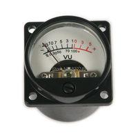 1pcs Black Panel VU Meter DC AC 6V To 12V Free Shipping Back Light Recording Audio