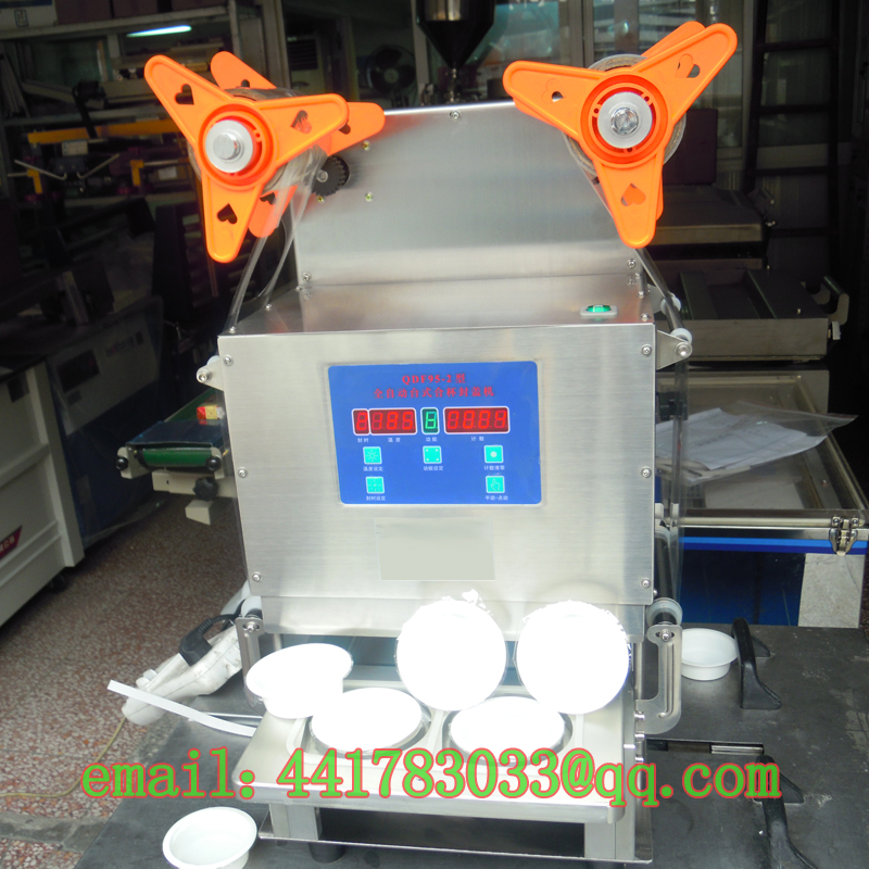 Automatic capping machine a two jelly food automatic cup sealer sealing machin sealer trays automatic cup sealer Stainless steel