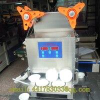 Comprar Máquina de tapado automático a dos gelatina de alimentos sellador automático de taza de sellado de bandejas de sellador automático de taza de acero inoxidable