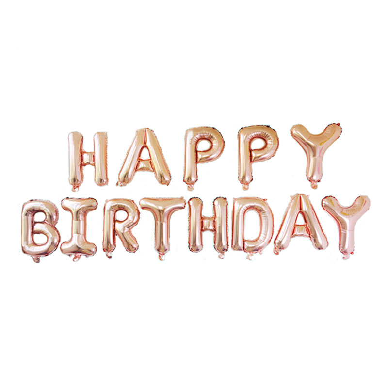 Rose Gold Letter Happy Birthday Foil Balloons US Version Alphabet Party Decorations Kids Air Supplies In Ballons Accessories From