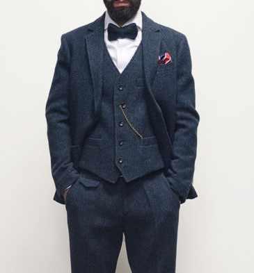 ダークブラウンメンズ冬のレトロな男性の新郎ウェディングドレス古典的なヘリンボーン柄ツイード 3 個 (ジャケット + ベスト + パンツ)