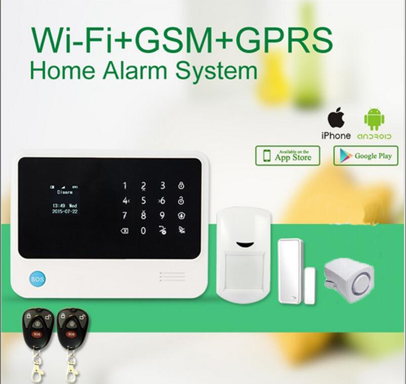 433mhz  WIFI GSM alalrm  system Touch keypad IOS Android APP control Home Security Alarm System with siren android ios app remote control wifi wireless wired lcd keypad smart gsm alarm system