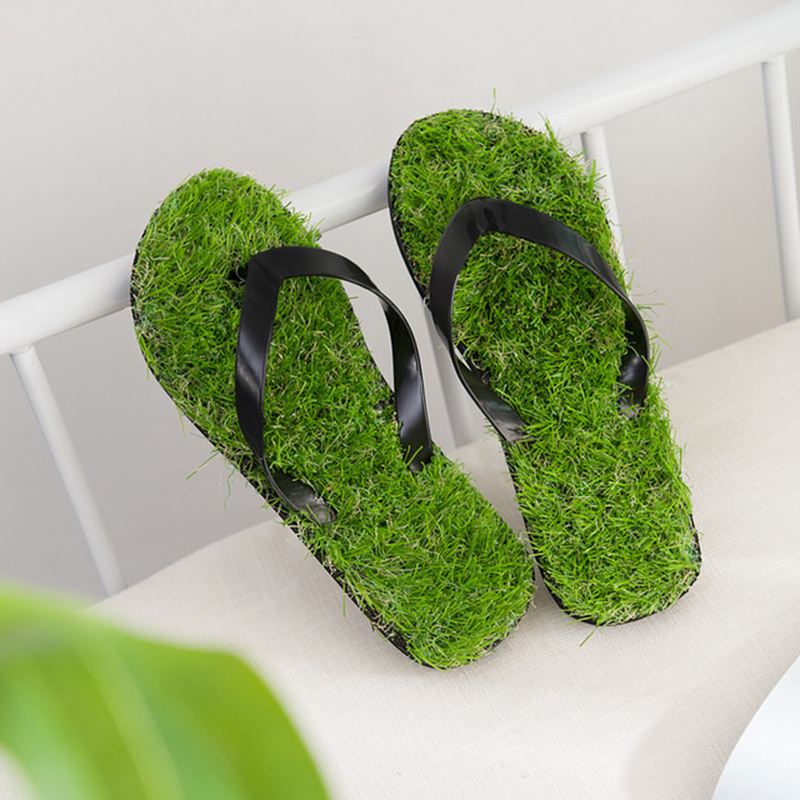 Grass-Slippers Beach-Shoes Flip-Flops men Outdoor Summer Women Sand-Lawn Fashion Personality