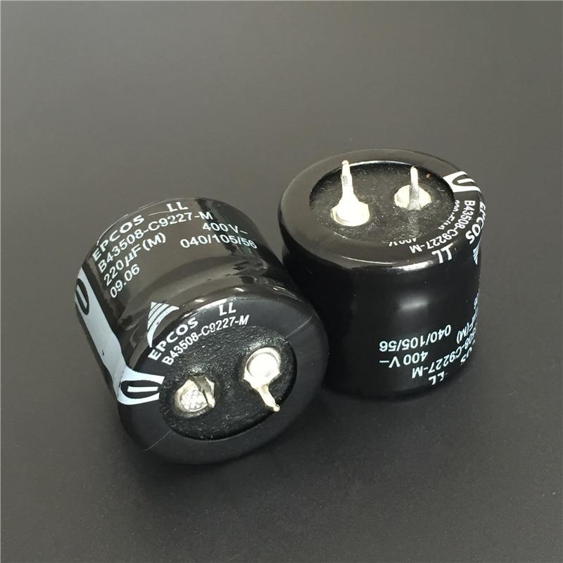 2шт 220 мкФ 400V EPCOS B43508 серии 30x25 мм 400V220uF низкопрофильный PSU алюминиевый электролитический конденсатор|Конденсаторы|   | АлиЭкспресс