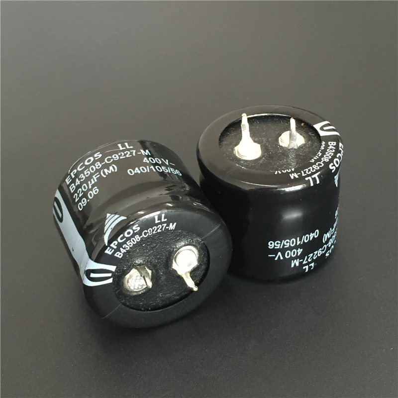 2pcs 220uF 400V EPCOS B43508 Series 30x25mm 400V220uF Low Profile PSU Aluminum Electrolytic Capacitor