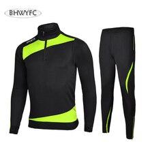 BHWYFC Winter 2017 Long Sleeves Soccer Jerseys Men Kids Football Tracksuits Set Training Suit Survetement