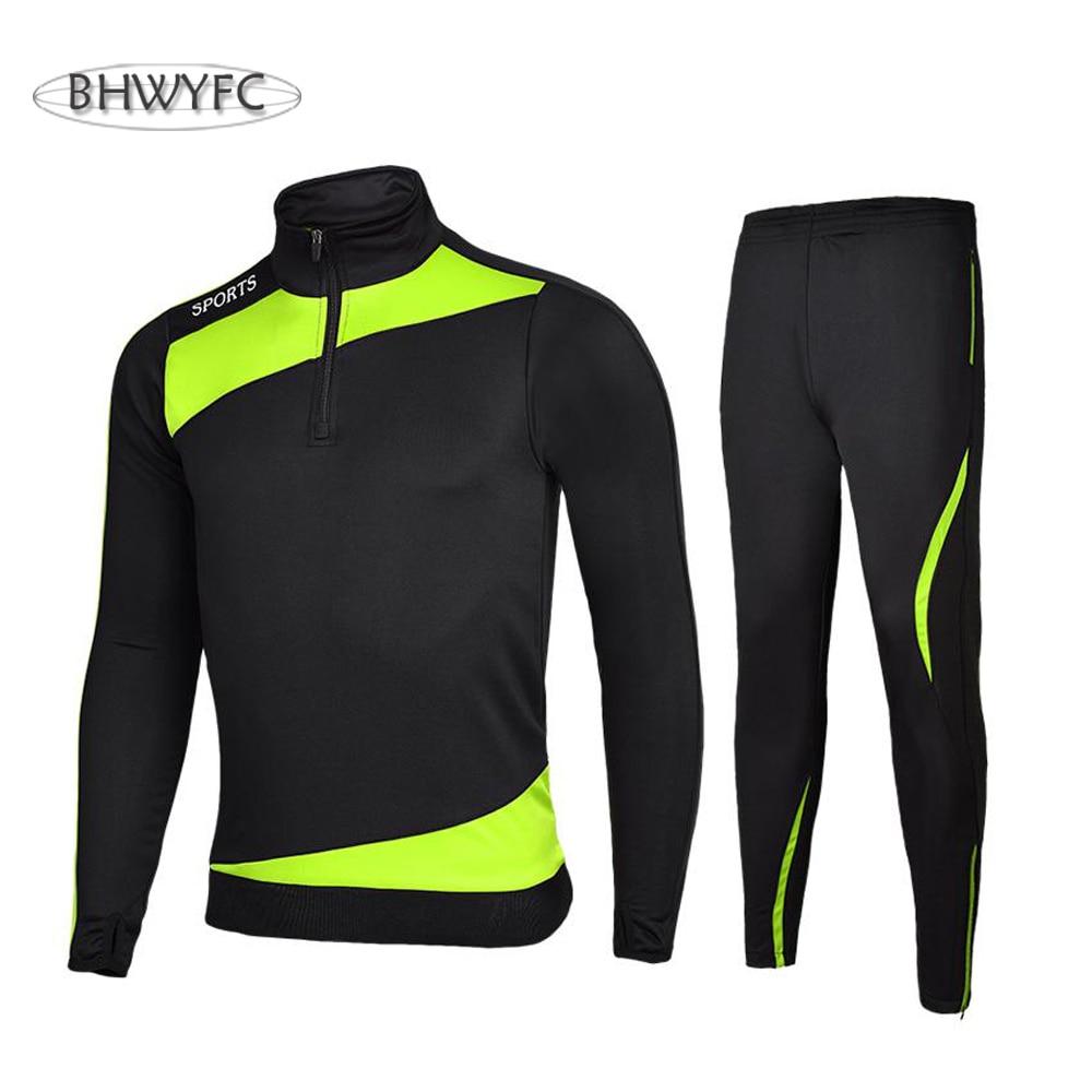 BHWYFC Winter 2017 Long Sleeves Soccer Jerseys Men Kids Football Tracksuits Men Set Training Suit Survetement
