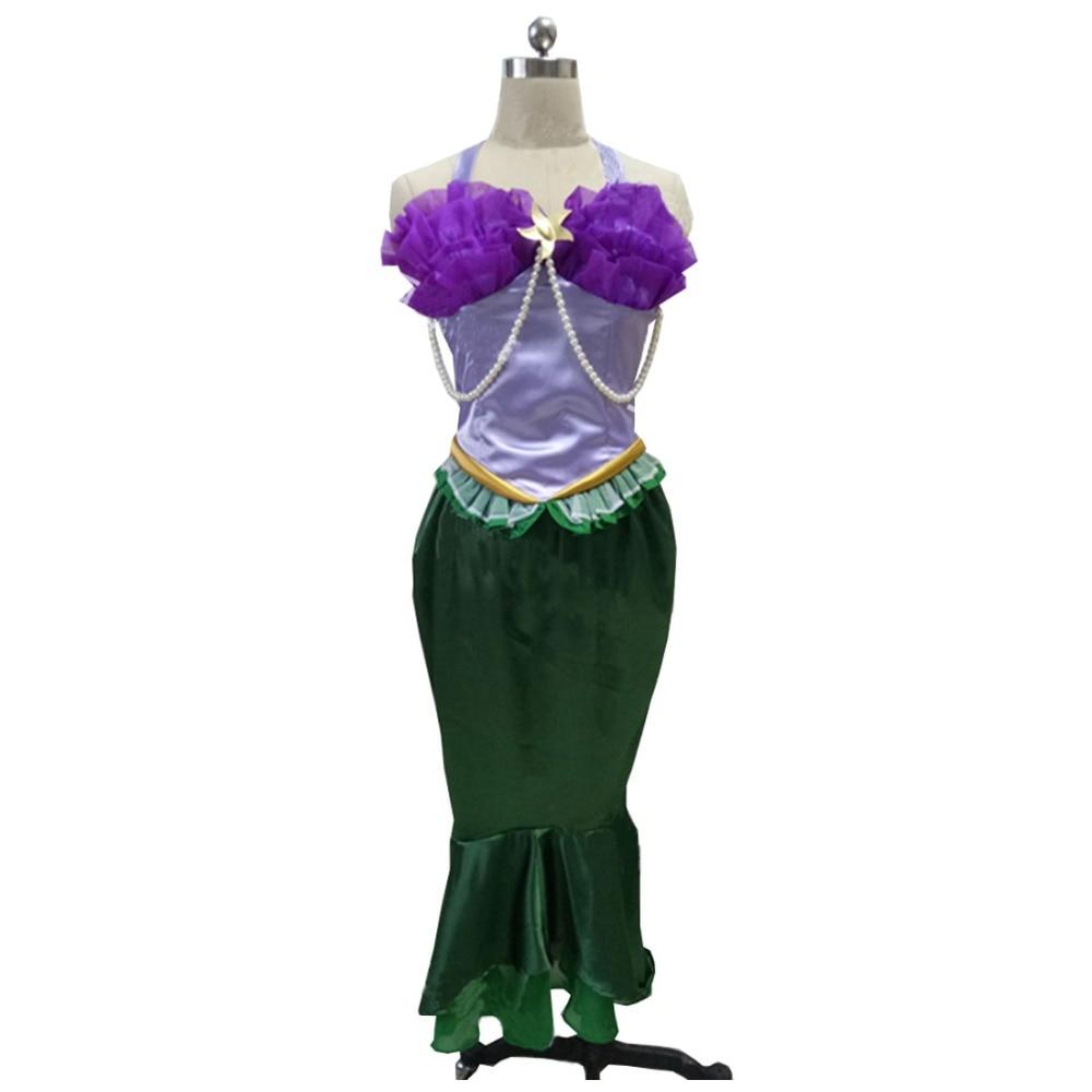 2017 petite sirène Ariel Cosplay haut jupe adulte femmes fête Hallowwen Costume