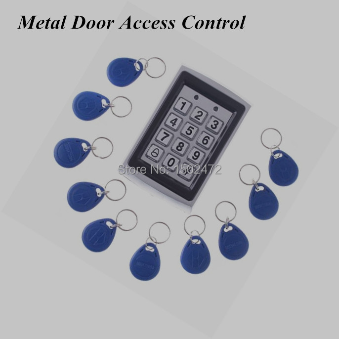 ФОТО Door Mirror RRFID Reader & Keypad Door Access Control Waterproof IP43 Metal Case +10pcs Keys
