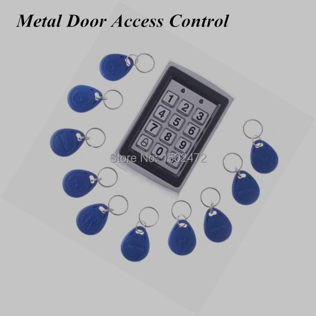 Leitor RRFID espelho porta e porta teclado controle de acesso IP43 impermeável caixa de Metal chaves