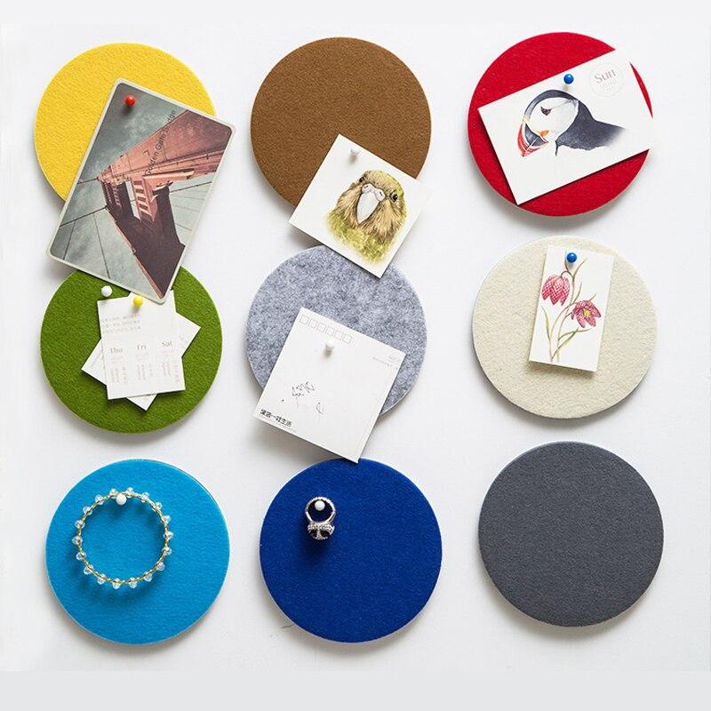 Multi round multipurpose Home Furnishing felt stickers sticking decorative board pad wal ...