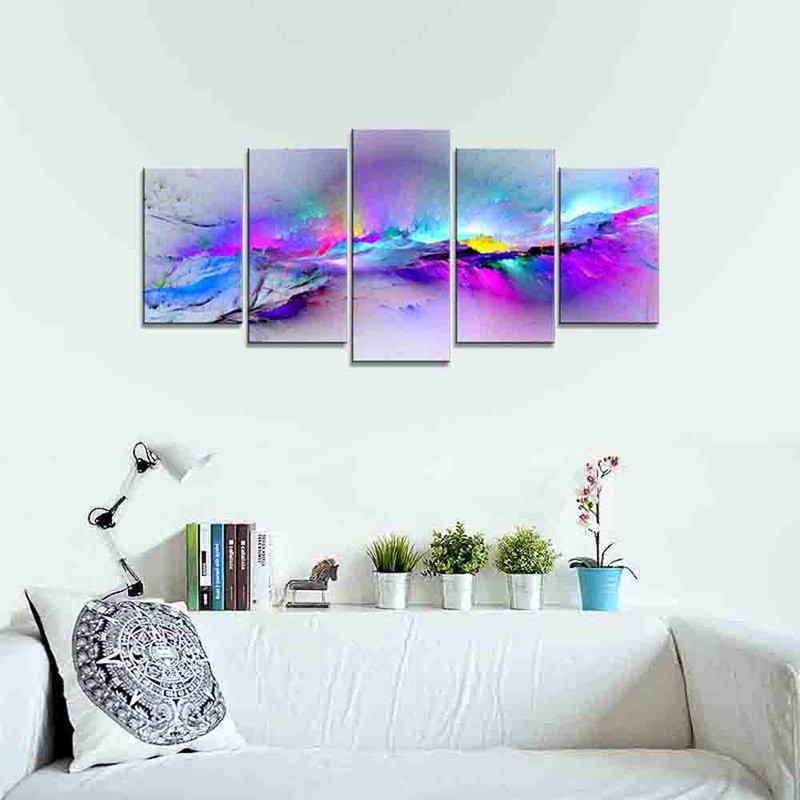 Homlif Modern Abstract Art Diamond Painting Cross Stitch Wall Artists Decoration 100% Hand Painting