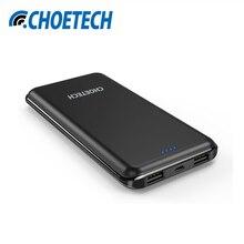 Choetech 10000 мАч Мощность банк двойной USB Выход Зарядное устройство для Xiaomi Мощность банк Портативный Bateria наружный для iphone 6S 7 таблетки