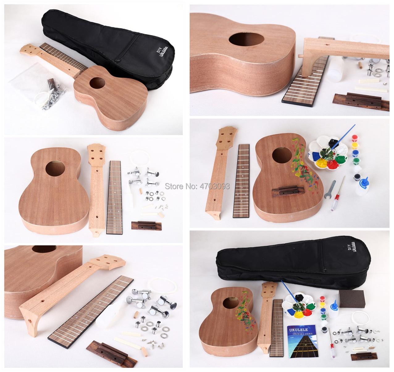 Ukulélé bricolage, corps en acajou, guitare acoustique 23 pouces, Fretboard en palissandre, livraison gratuite - 2