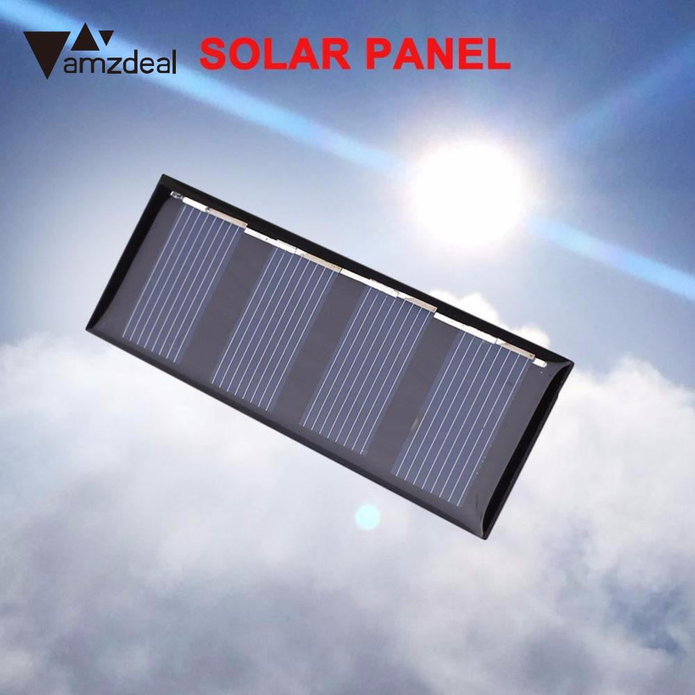 amzdeal 0.2W 2V Polycrystalline Solar Panel Portable Sunpower Solar Power Cell Charger Professional Outdoor Powerbank Board Gift