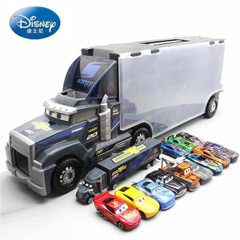 Disney Pixar Car 12PCS portable car storage container truck cartoon mobilization Mai Dashu large container alloy