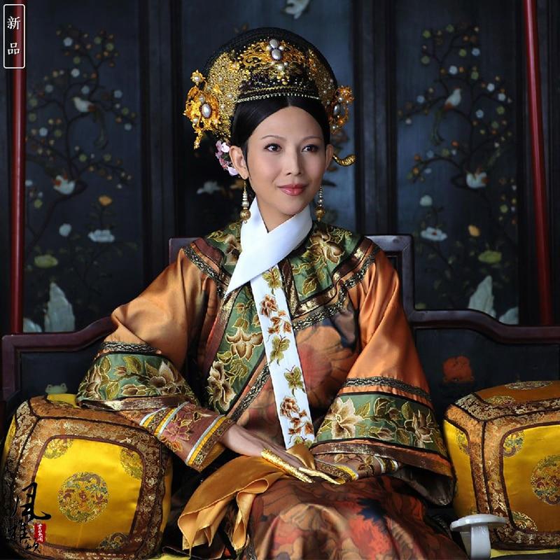 Cai ShaoFen Empress Costume TV Play Legend Of Zhenhuan Qing Dynasty Royal Princess Hanfu Female Qifu Embroidery Hanfu