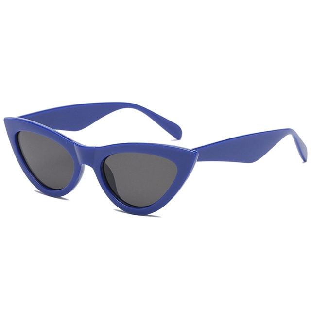 898aafe545de 2018 New Cat Eye Women Sunglasses Solid Color Female Eyewear Vintage Sun  Glasses Lens Women Men Sunglasses