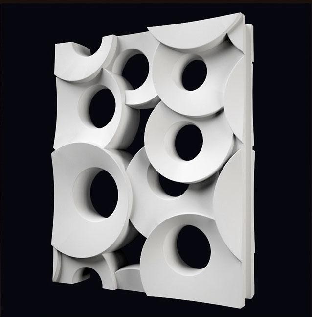 """2 шт. 3D Пластик формы для пластырь 3D декоративные настенные панели блока """"Кольцо"""" новые формы Дизайн 2017 год"""