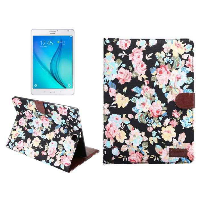 Luxury Flower Cloth Print Flip Stand Tablet Protective Leather Card Book Cover Case For Samsung Galaxy Tab S2 8.0 SM-T710 T715