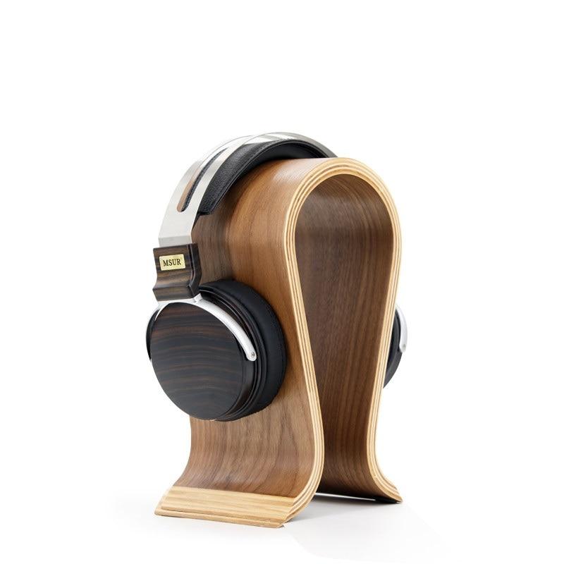 MSUR N650 HiFi Wooden Metal HiFi Music DJ Headphone Headset Earphone With Beryllium Alloy Driver Portein Leather 100% Authentic