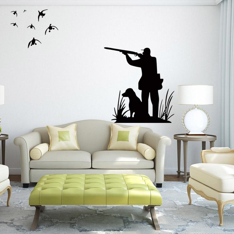 ovçu ov quşu vinil divar dekolteli ev dekorasiya salon otağı diy - Ev dekoru - Fotoqrafiya 2