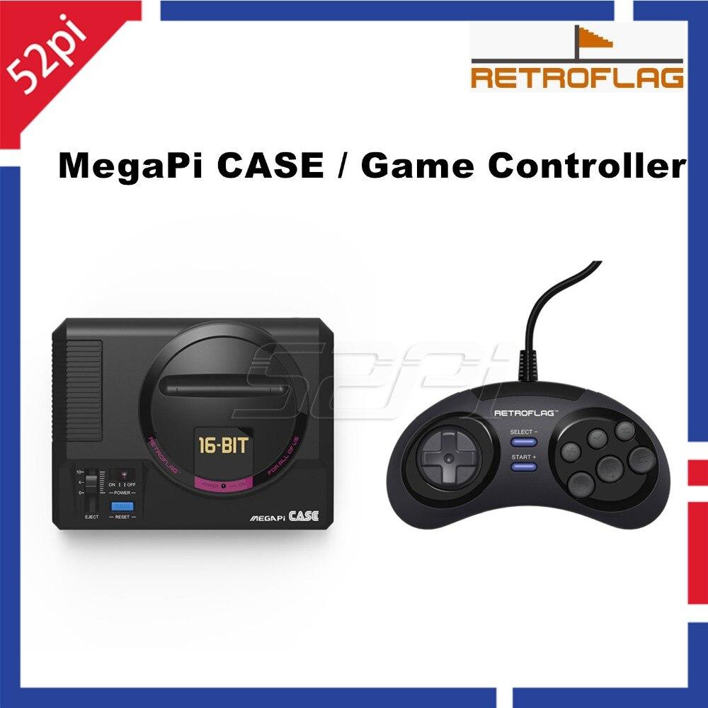 ¡En Stock! 52Pi Original Retroflag MEGAPi caso botones funcionales/cable USB controlador de juego para Raspberry Pi 3B Plus (3B +) /3B