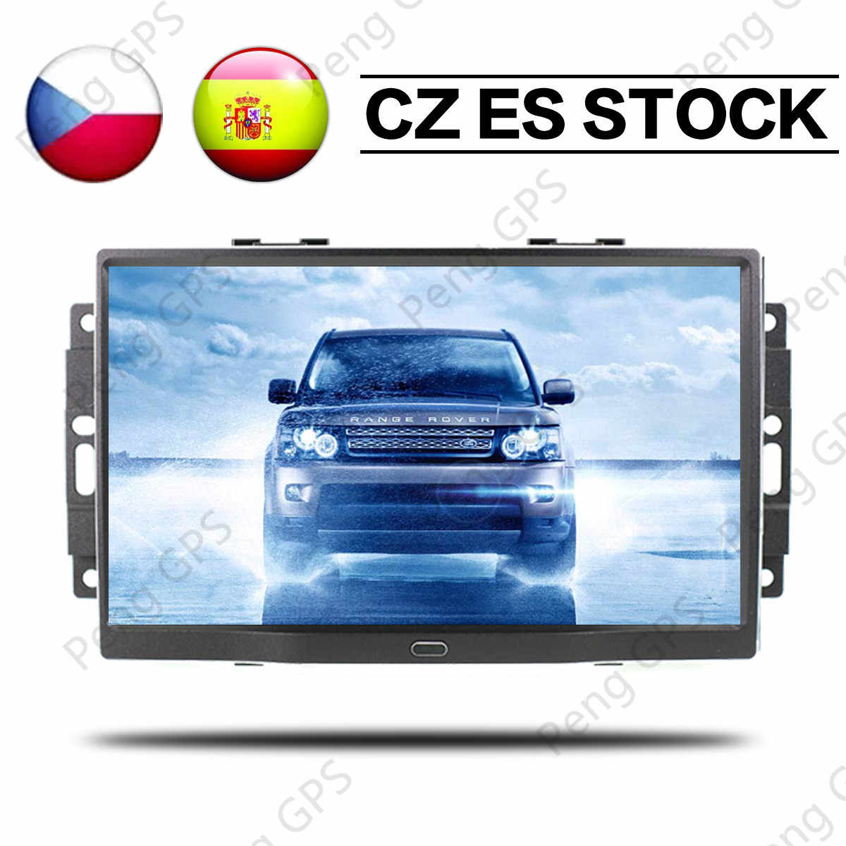 9 ''Android 8,1 8 core coche estéreo GPS Radio de navegación para Jeep Grand cheroki Patriot Dodge cargador Chrysler 300C reproductor de DVD