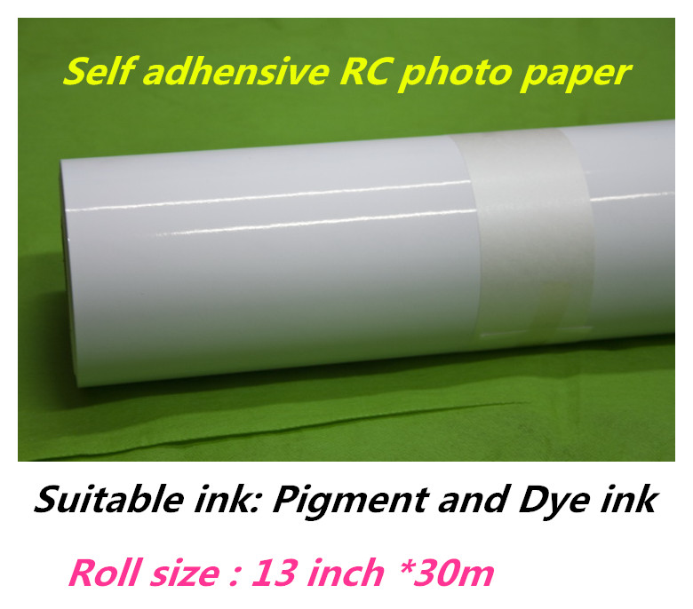 A3 roll water resistant RC glossy photo paper sticker roll for wholesale 13in 0 329m