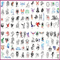 15 books Designs Temporary Body Tattoo Template Self adhesive Airbrushing Tattoo Stickers Reusable Airbrush