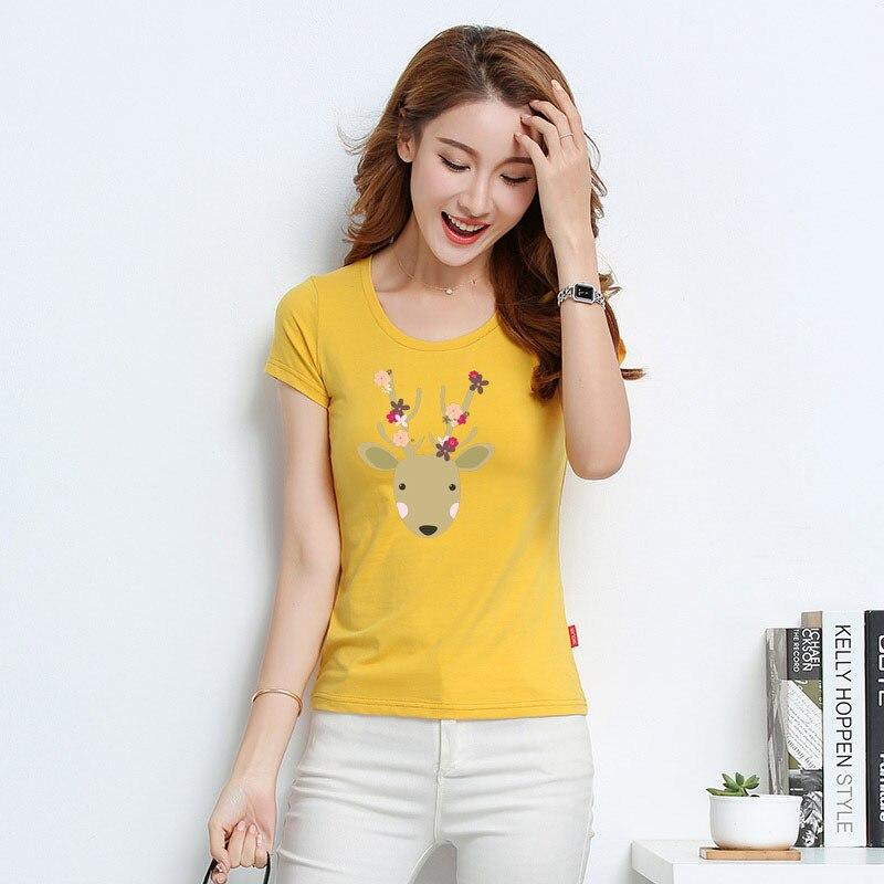 DZ T Shirt Women New t-shirts women 2018 vogue Vintage tshirts cotton women O Neck Short Sleeve Y147