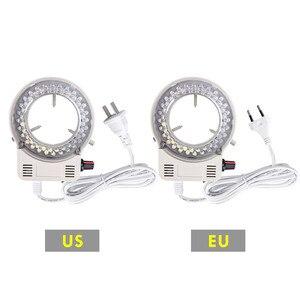 Image 2 - Foxanon LED مصباح مصمم على شكل حلقة المنور مصباح AC 110V 220V قابل للتعديل المجهر ضوء عالية الجودة DC 12V ستيريو Microscopio أضواء