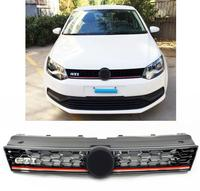 Car styling High quality Front Grills Racing Grill for VW Polo GTI Grille 2014 2015 2016 2017 high quality Car accessories