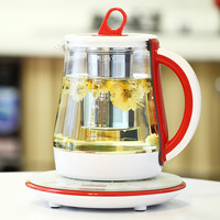 Electric kettle health pot fully automatic glass flower teapot electric kettle black tea kettle black tea Overheat Protection