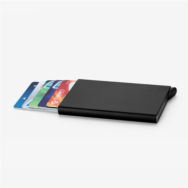 Brand Elegant Business Credit Card Holder Metal Wallet Porte - Porte carte credit